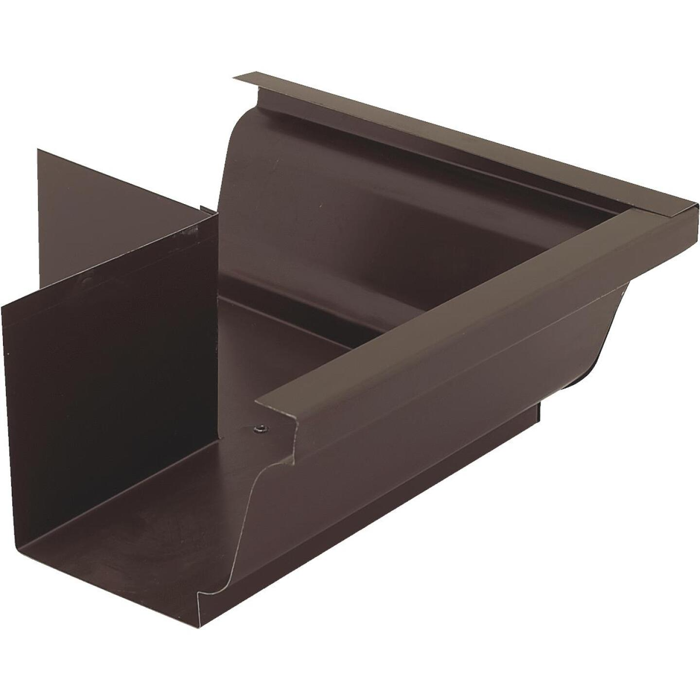 NorWesco 4 In. Galvanized Brown Gutter Outside Corner Image 1