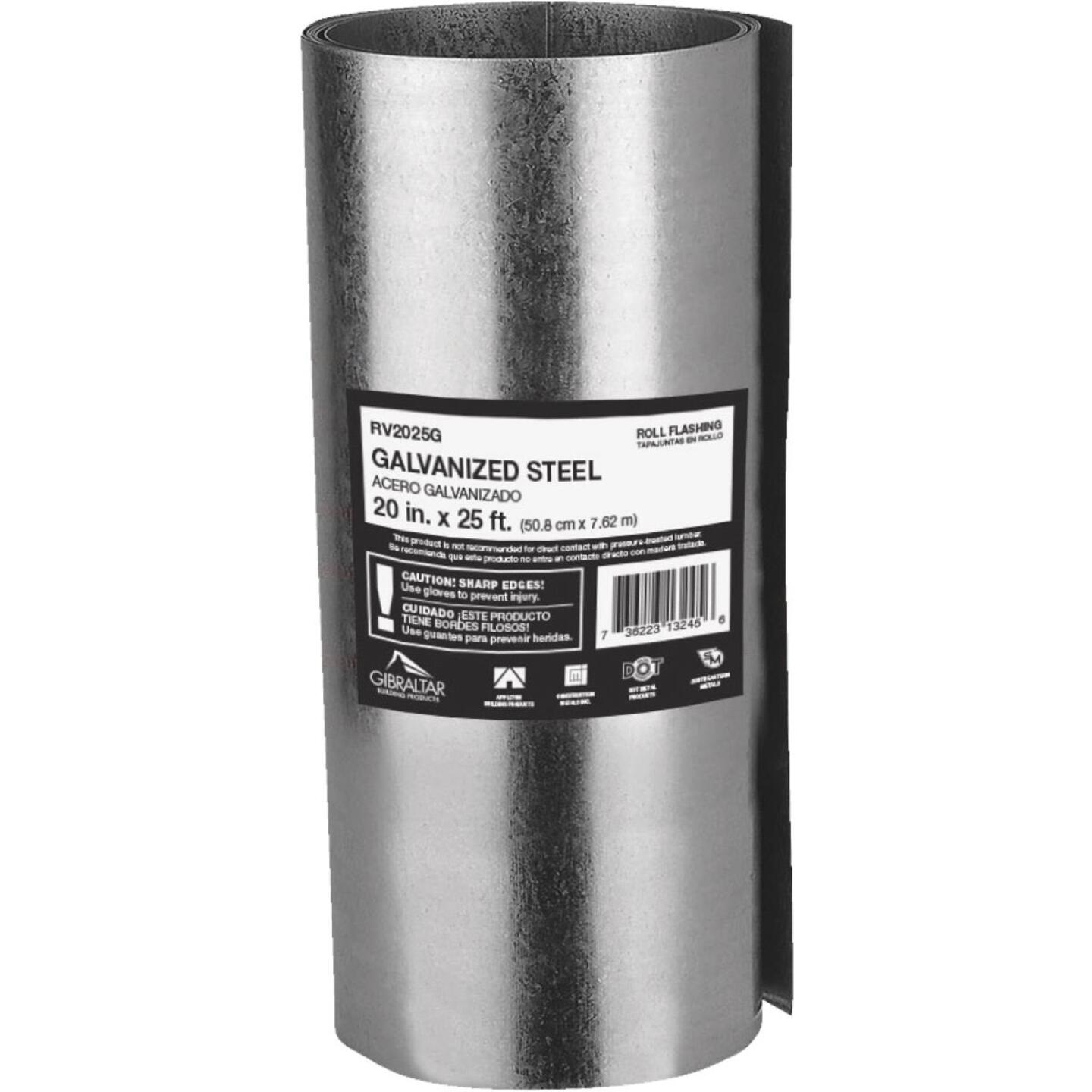 NorWesco 20 In. x 25 Ft. Mill Galvanized Roll Valley Flashing Image 1